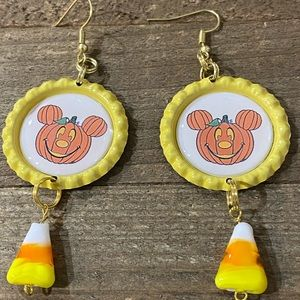 Pumpkin 🎃 Mickey Mouse Candy Corn earrings